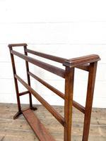 Antique Edwardian Mahogany Towel Rail (8 of 9)