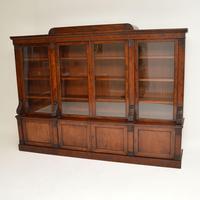 Antique George IV Mahogany Dwarf Bookcase (4 of 11)