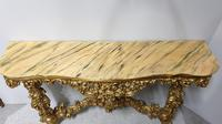 Carved Wood Gilt Console Table (8 of 17)