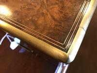 Burr Walnut Brass Inlaid Writing Box (7 of 17)