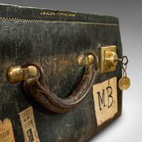 Antique Travel Case, Leather, Salesman's Suitcase, JW Allen, Strand, Edwardian (10 of 12)