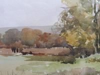 Watercolour Autumn in Wiltshire by Ronald Birch (3 of 10)