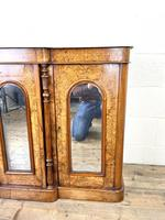 Victorian Inlaid Walnut Credenza with Marble Top (4 of 10)