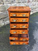 Antique Figured Walnut Small Chest Drawers (7 of 10)