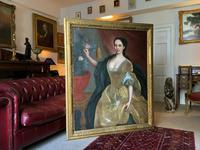 Huge Early 18th Century French Oil Portrait Painting of 'Lucy Webb, Heiress of Ashwick' (3 of 17)