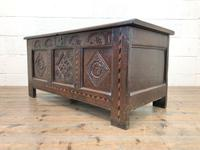 18th Century Oak Coffer with Inlay (10 of 13)