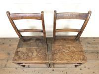 Two Similar 19th Century Oak Bar Back Farmhouse Chairs (3 of 10)