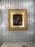Antique Re-Raphaelite oil painting portrait of aristocratic young girl (1 of 2) (9 of 10)