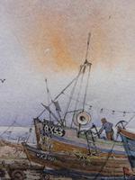 Watercolour & Ink Hastings Boats Listed Artist Valerie Sadler (8 of 10)