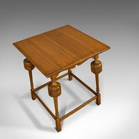 Antique Occasional Table, English, Oak, Side, Wine, Arts & Crafts, Edwardian (4 of 10)