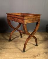 Stunning French Charles X Walnut Library Writing Table (5 of 16)
