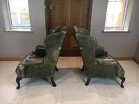 Stylish Pair of Large 18th Century Style Vintage Wing-back Armchairs (2 of 14)