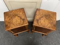 Pair of Burr Walnut Queen Anne Bedside Cupboards (4 of 15)