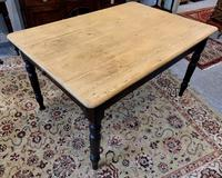 Antique Victorian Pine Farmhouse Table with Drawer (15 of 16)
