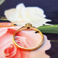 Dainty Vintage 18ct Gold Diamond Flower Ring (4 of 7)