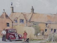 Watercolour Country Village Exhibited Artist Tony Hunter (7 of 10)