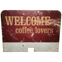 Vintage Original Welcome Coffee Lovers Advertising Shop Business Sign