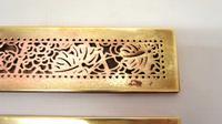 "Pair Tiffany Studios 12"" Brass Plated Desk Set  Blotter Ends 998  Grapevine (15 of 15)"