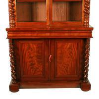 Fine Victorian Mahogany Cabinet Bookcase (4 of 8)