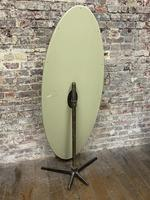 Olive Coloured 1960's Oval Mirror (4 of 5)