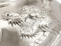 Chinese Export Silver Three Piece Tea Service - Antique Circa 1900 (5 of 15)