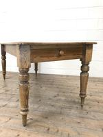 Victorian Pine Kitchen Table (4 of 9)