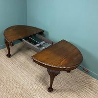 Edwardian Walnut Wind-out Extending Antique Dining Table (2 of 9)