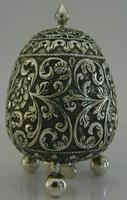 Stunning Indian Eastern Solid Silver Pepper Spice Pot Egg Shaped c.1880 (6 of 9)