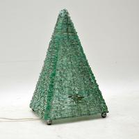 1960's Vintage French Glass Pyramid Table Lamp (6 of 6)