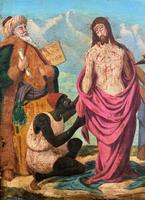 Pair of 19th Century Religious Old Master Oil Paintings - Set of 14 Available (9 of 32)