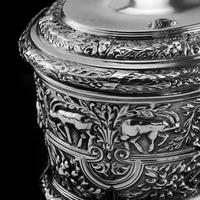 Rare Antique Solid Silver Cellini Tea Caddy Box - Mappin & Webb 1902 (19 of 28)