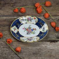 First Period Worcester Porcelain Scale Blue Oval Dish c.1770 (8 of 8)