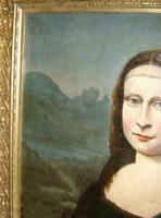 Mona Lisa Old Master 18th Century Oil Portrait Painting on Canvas after Leonardo Da Vinci (6 of 9)