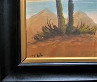 Arabic School - Wonderful Early 20th Century Arabian Camels in Landscape Oil Painting (10 of 12)