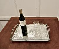 Art Deco Silver Plated Cut Glass Mirror Tray (4 of 11)