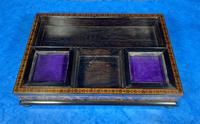 Victorian Rosewood & Tunbridge Ware Inkstand by Thomas Barton (8 of 24)