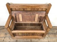 Rustic Pitch Pine Settle Bench (7 of 9)