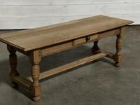 Large French Bleached Oak Coffee Table (6 of 14)
