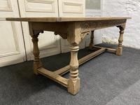 Bleached Oak Farmhouse Refectory Dining Table (14 of 22)