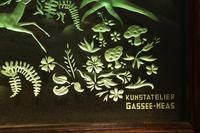 Magnificent Art Deco Illuminated Etched & Engraved Very Large Glass Wall Decoration (8 of 13)