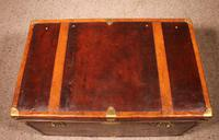 English Travel Chest in Leather - Early 20th Century (10 of 11)