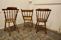 Collection of 3 Stripped Beech & Elm Country Windsor Chairs (3 of 12)