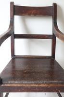 19th Century Scottish Vernacular Glasgow Pattern Joined Armchair Reddish Stain c.1880 (44 of 46)