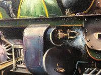 Oil Painting Railway Train Engine Princess Margaret 4056 Signed Ken Allsebrook (25 of 30)