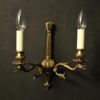 French Set Of 4 Empire Twin Arm Wall Lights (2 of 10)