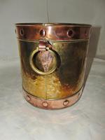 Victorian Copper & Brass Log Bin (4 of 5)
