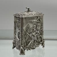 Antique Victorian Sterling Silver Tea Caddy London 1894 George Fox (3 of 12)