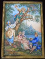 Beautiful Miniature Painting after Boucher 'Birding' (3 of 6)