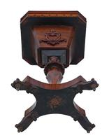 Victorian C1860 Rosewood Gothic Work Side Sewing Table Box (11 of 11)