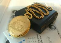 Vintage Pocket Watch 1970s Railroad 12ct Gold Plated Swiss & West Germany Nos (7 of 12)